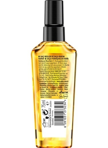 Gliss Gliss Intense Theraphy Yeniden Yapılandırıcı Şampuan 360Ml+Sıvı Saç Kremi 200Ml+Oil Elixir Yağ İksiri 75Ml Renksiz